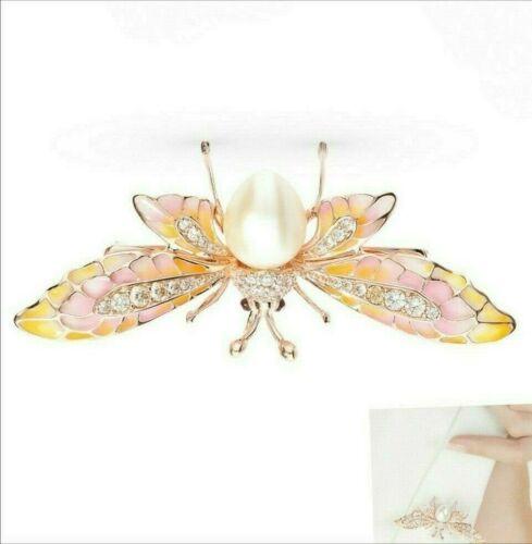 brooch  silver enamel  Faberge design fine  pearl gold plating
