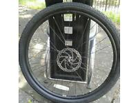 Carrera disc break front wheel brand new plus tyre bargain £40 07824386008