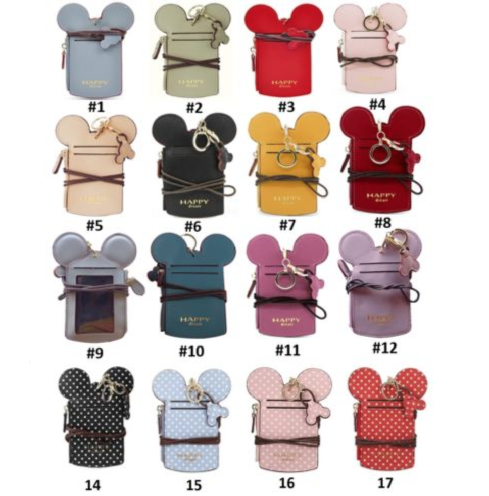 Mickey Mouse Shaped Name ID Card Badge Holder Wallet Purse L