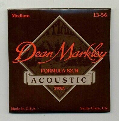 1 SET DEAN MARKLEY 2106A ACOUSTIC GUITAR STRINGS / MEDIUM 13-56 / FORMULA 82/R