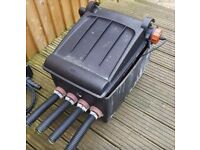 Pond filter with built in uv light