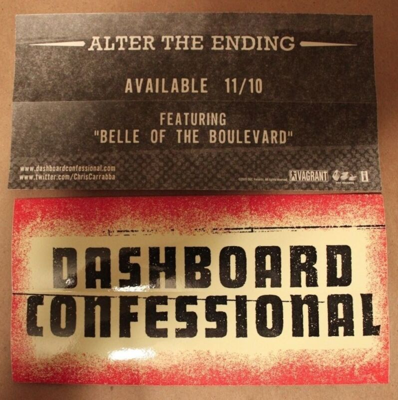DASHBOARD CONFESSIONAL ALTER THE ENDING STICKER