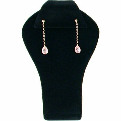 Black Velvet Earring Display Jewelry Showcase Stand Set