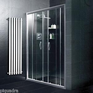 Box doccia porta scorrevole nicchia 170 in vetro cristallo 6 mm trasparente ebay - Vetro doccia scorrevole ...