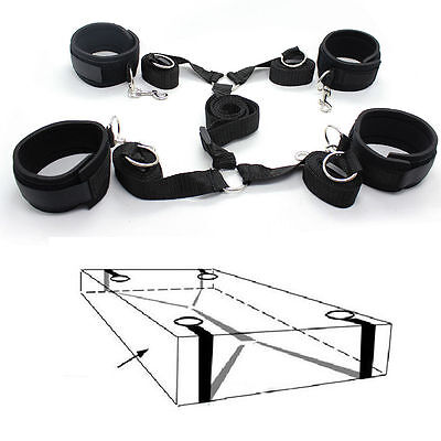 Under the Bed system tool Set Nylon Bands Neoprene Wrist Ankle Cuffs