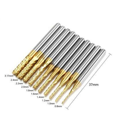 10pcs 18 0.8-3.175mm Pcb Drill Bit Set Engraving Cutter Rotary Cnc End Mill