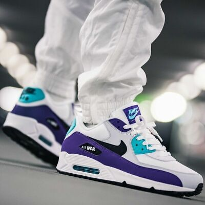 """a3dd809b79 NIKE AIR MAX 90 Essential """"Grape"""" MEN'S RUNNING SHOES LIFESTYLE COMFY  SNEAKERS"""
