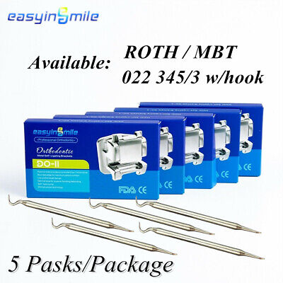 Dental Orthodontic Mini Brackets 5pack Rothmbt Self-ligating Braces Easyinsmile