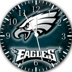 Philadelphia Eagles Frameless Borderless Wall Clock For Gifts or Home Decor E419