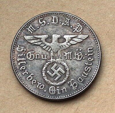 ADOLF HITLER NSDAP KAMPFSPENDE GERMAN CHALLENGE COIN THIRD REICH  WW2