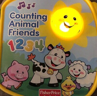 Fisher Price Counting Animal Friends Baby Toy  Talking Interactive Learning - Animal Counting Book