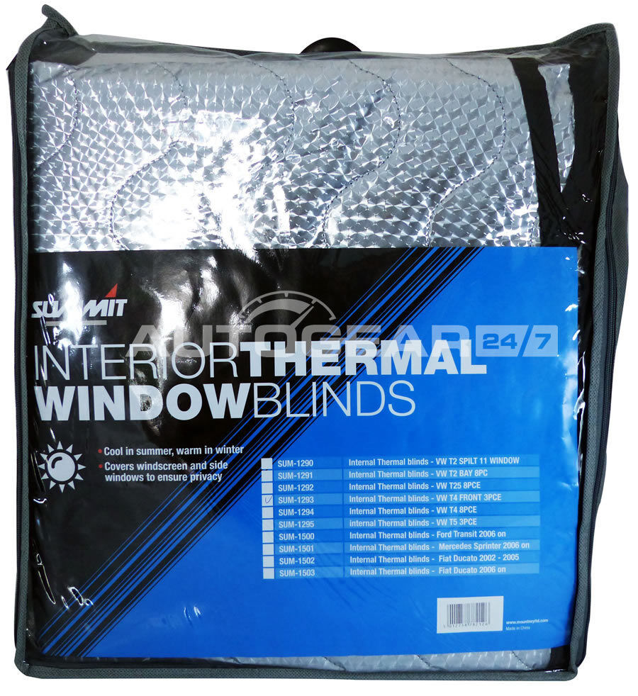 to Fit Fiat Ducato 06 Onwards Summit SUM-1508 Thermal Blind External 2 Piece Kit