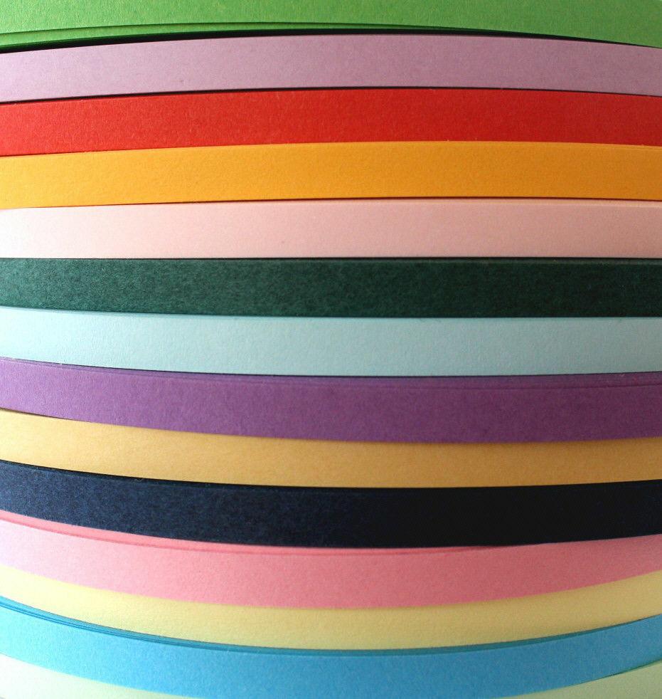 Quilling Papierstreifen 5mm in 42 Farben, Packung mit 120 Streifen