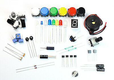 Electronics Starter Kit Leds Ldrs Switches Buzzer Pots Resistors Storage Box Etc
