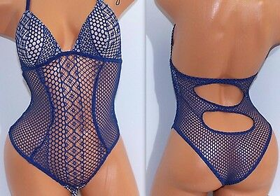 *NWT Victoria's Secret Lingerie VS All-over Lace Mesh Cut-Out Teddy M