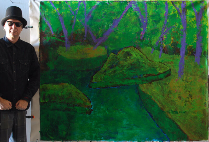 "Mark W. Little, Original, Authentic, 72"" X 60"" Acrylic, Abstract, POP Art, Giant"