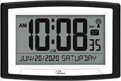 Atomic Clock,Self-Setting Digital Alarm Days Clock,Digital Wall Clock or Desk Cl