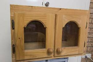 Solid timber High Cupboard with Glass doors Annerley Brisbane South West Preview
