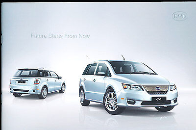 2010 2011 BYD Chinese Electric e6 Original 26-page Car Sales Brochure Catalog