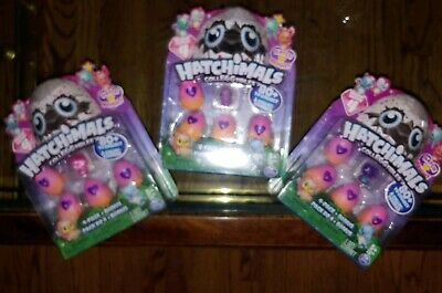 Lot of 3 Hatchimals CollEGGtibles Season 4 Hatch Bright 4 Pack + Bonus
