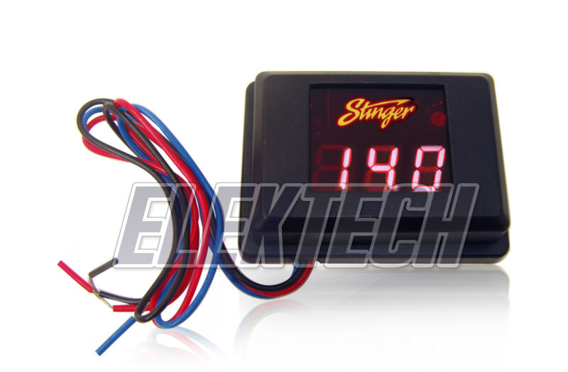 Stinger Pro SVMR Voltmeter 3-Digit Red LED Voltage Display Gauge Voltage Meter