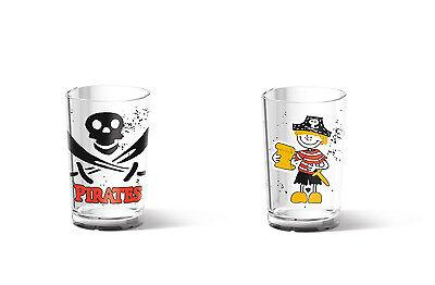 Emsa 6er Set Pirata Kinderglas Infantil Vasos de Plástico Recipiente Bebida 0,2L