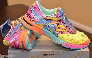 France Womens Asics Gel Noosa Tri 10 - Itm Asics Gel Noosa Tri 10 Flash Yellow Turquoise Pink Womens Running Shoes T450n  191454682358