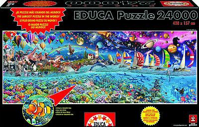 Puzzle Educa 24000 piezas,Vida, Colorido, jigsaw,13434, Gigante, XXL, Adultos