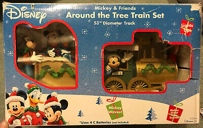 VINTAGE-Disney Train Around The Tree Train Set Mickey Goofy Christmas-opened Box
