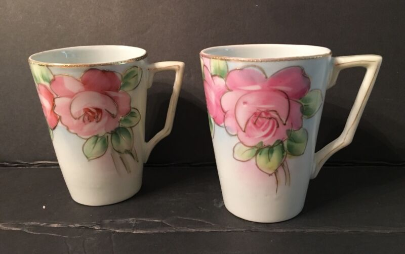 Nippon Large Pink Roses Tea Coffee Chocolate Mugs