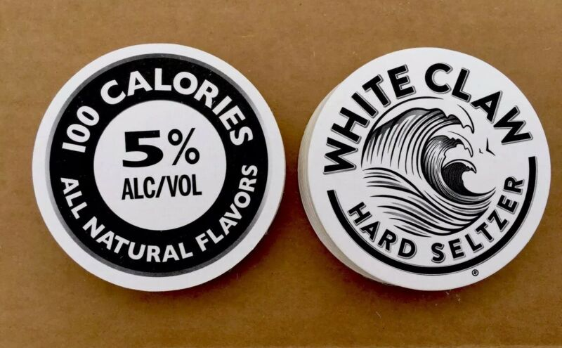 White Claw Bar Coasters You Receive 20 Coasters Free Shipping ~ ~ ~