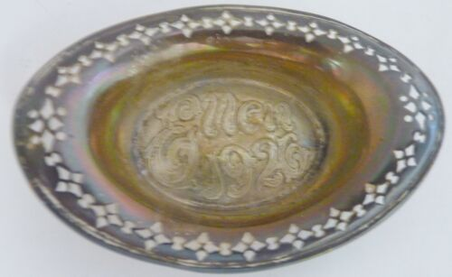 Antique Sterling Silver Tiffany & Co Open Salt Dish Pierced Edge Dated 1926