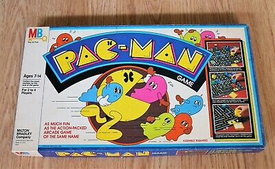 1980's Milton Bradley PAC-MAN Board Game - Complete - Red Ghosts