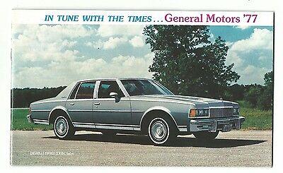 1977 Promotional Brochure GENERAL MOTORS Chevrolet Pontiac Buick Cadillac