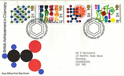 2 MARCH 1977 CHEMISTRY POST OFFICE FIRST DAY COVER BUREAU SHS