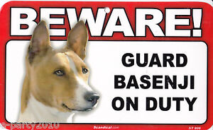 BEWARE of GUARD DOG Plastic Sign Poster ~ You pick your BREED!
