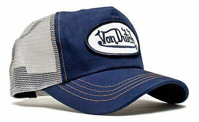 Authentic New Von Dutch Adult Gray Navy Baseball Cap Hat Trucker Mesh Snapback