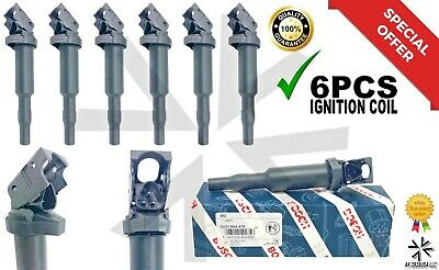 Ignition Coil 6 Pack Updated W/ Connector Boot 0221504470 12138616153 00124 X3.