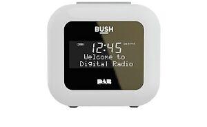 Bush DAB Alarm Clock Auto Tune Radio - White.