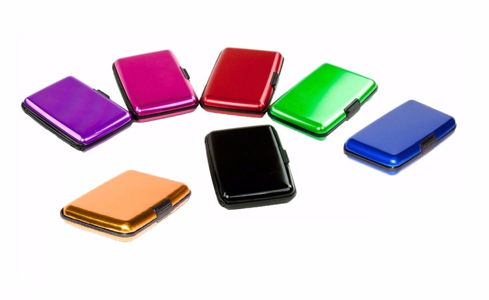 Aluminum Wallet RFID Blocking  Crash Proof Credit Card Holde