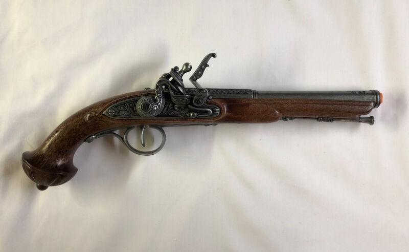 Denix 18th Century Engraved Flintlock Pistol Replica - Antique Gray - Non-Firing