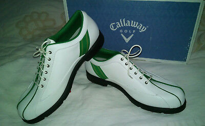 Callaway Golf Shoes Women's 8.5 M Newport Sport White / Gr