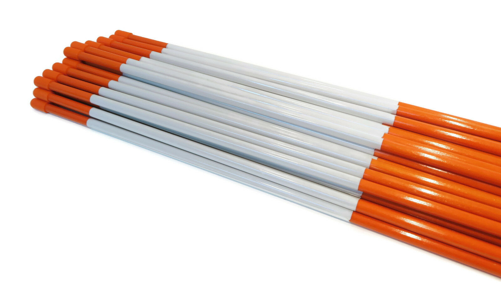 Pack of 200 Pathway Sticks 48 inches Fiberglass with Reflective Tape 1//4 inch