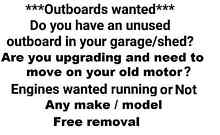 outboards wanted yamaha johnson evinrude mercury mariner honda Melbourne Airport Hume Area Preview