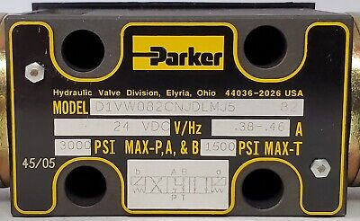 Parker D1vw082cnjdlmj5 82 - Solenoid Operated Hydraulic Directional Valve-n.o.s.