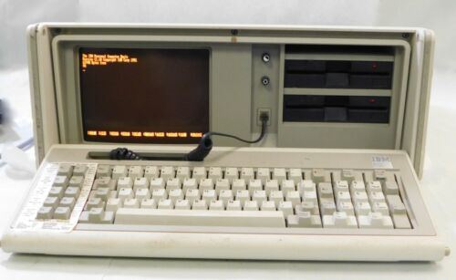 IBM 5155 Portable Personal Computer with self contained Carry Case - Powers On