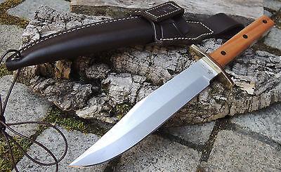 Linder REHWAPPEN PLATTERL BOWIE 2 Messer Jagdmesser Carbonstahl Pflaumenholz