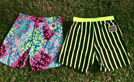 Six brand new Men's vintage Quicksilver board shorts