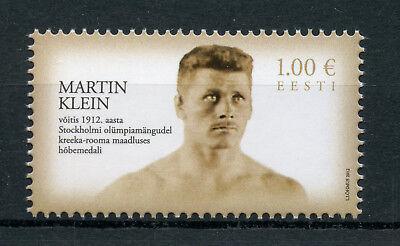 Estonia 2012 MNH Martin Klein 1st Medal Olympics Wrestling 1v Set Sports Stamps