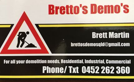 Bretto's Demos- PROFESSIONAL DEMOLITION EXPERTS SMALL TO LARGE